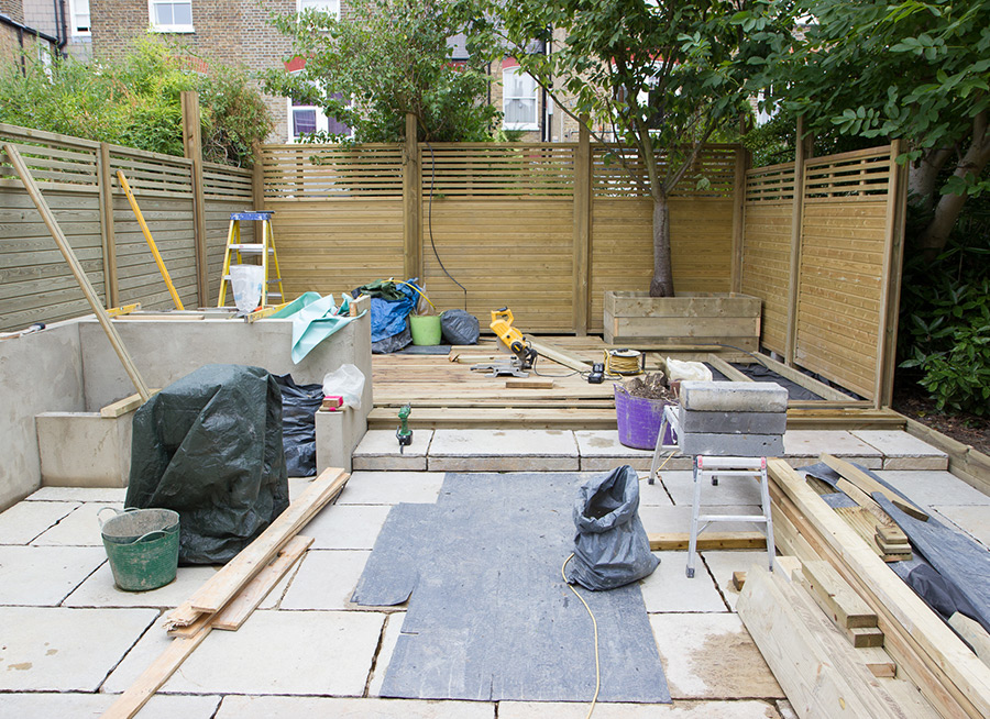 Medium Low Maintenance Garden in Balham