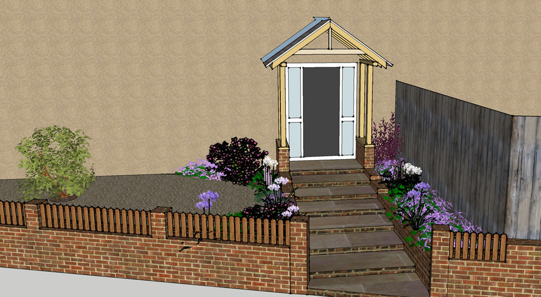 Porch and Fencing in Sutton